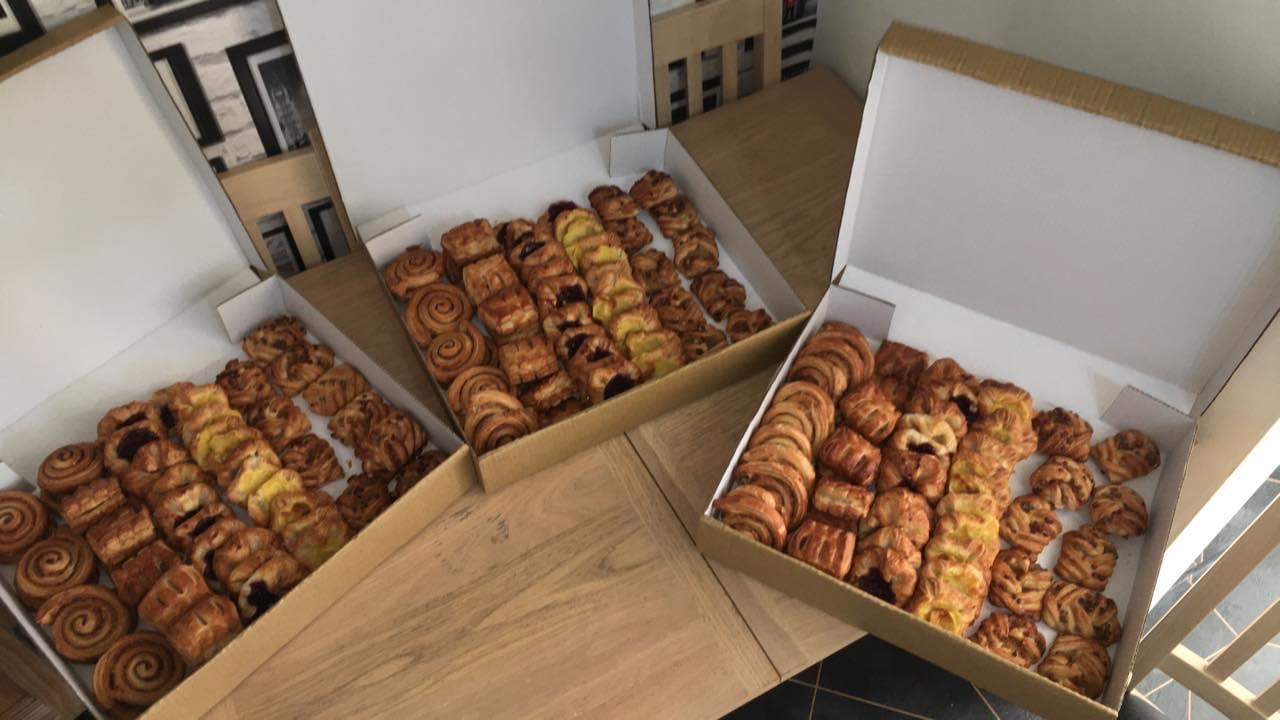 Danish Pastries in boxes